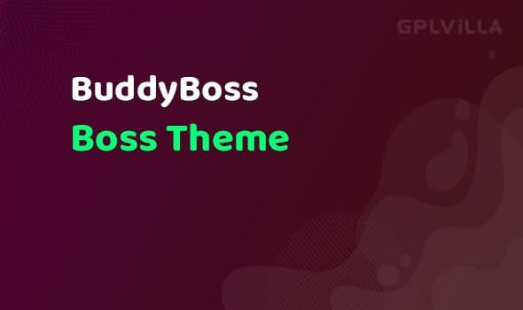 BuddyBoss - Boss Theme