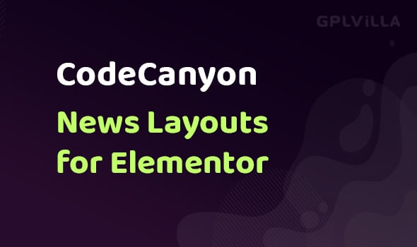News Layouts for Elementor WordPress Plugin