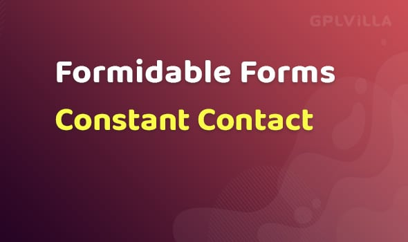 Formidable Forms - Constant Contact AddOn