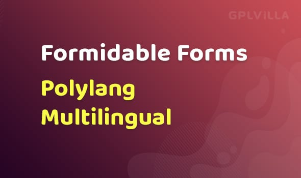 Formidable Forms - Polylang Multilingual AddOn