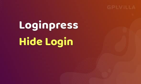 LoginPress - Hide Login