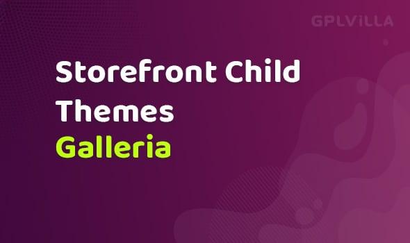 Woocommerce Galleria Storefront Child Theme