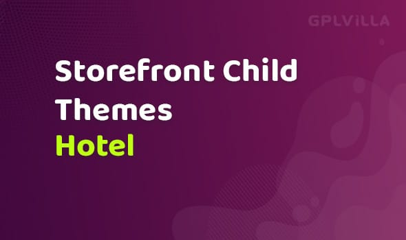 WooCommerce Hotel Storefront Child Theme