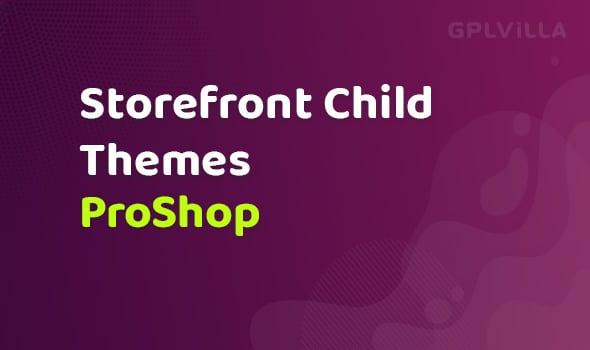WooCommerce ProShop Storefront Child Theme