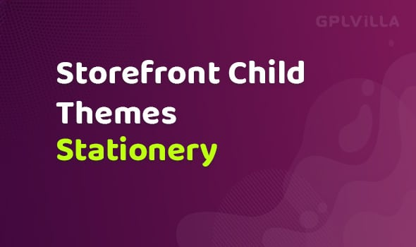 WooCommerce Stationery Storefront Child Theme
