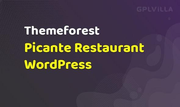 Picante   Restaurant WordPress