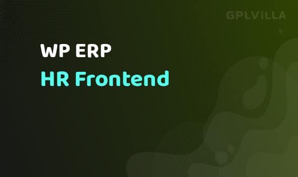WP ERP HR Frontend