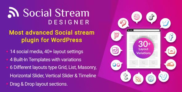 Social Stream Designer - Advanced WordPress Social media Feed Grid Gallery Plugin