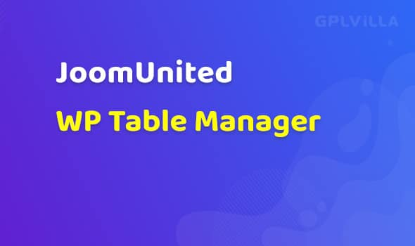 JoomUnited WP Table Manager