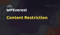 User Registration Content Restriction